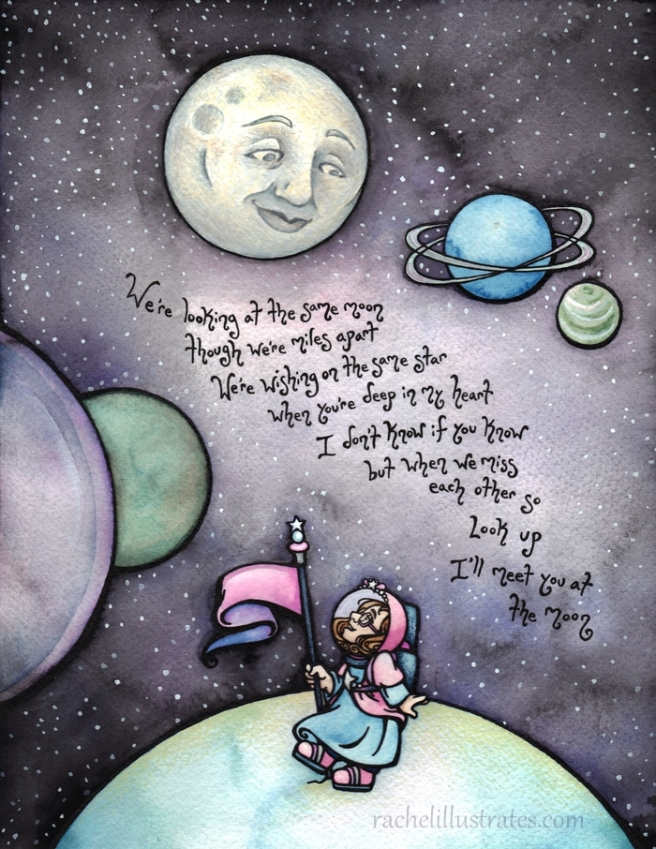 """""""Meet You at the Moon,"""" commission"""