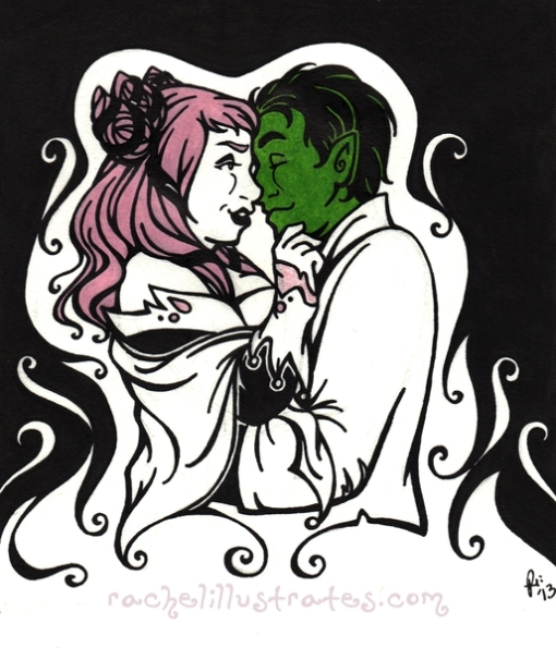 """BB and J,"" art by Rachel Marsh, characters by DC comics."