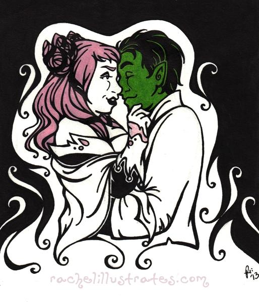 """BB and J,"" art by Rachel Marsh, characters by DC comics."