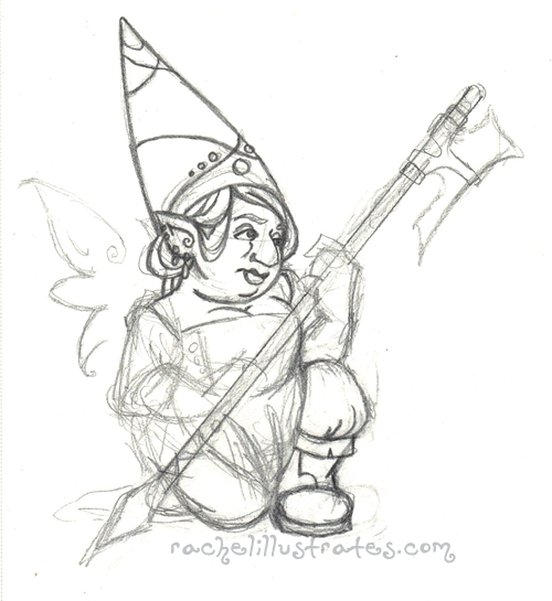 "Sketch, ""Guardian Gnome"""