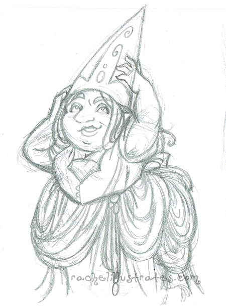 "Sketch, ""Hat Adjustments,"" pencil"