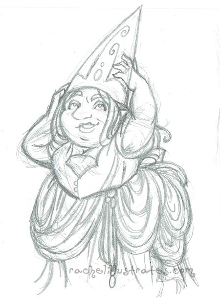 "Sketch, ""Hat Adjustments,"" pencil"