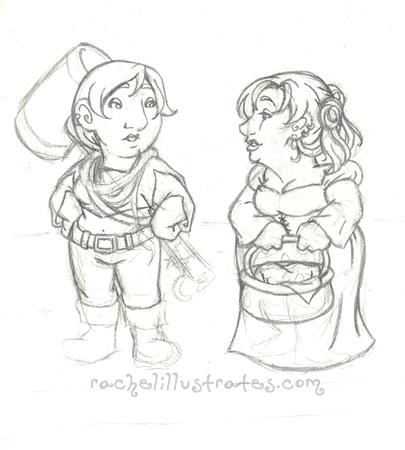 Sketch, Persinette and Sumomo