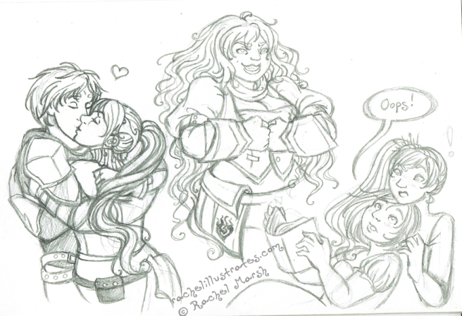 RWBY, pencil sketches