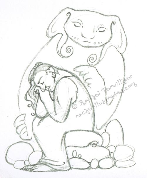 Pencil sketch,