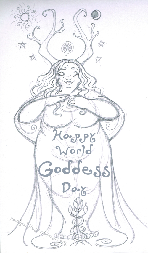 Sketch, Happy World Goddess Day