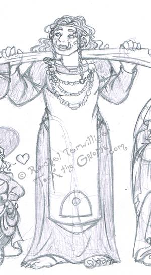 """Princessy"" sketch preview, Onna, from ""Tock the Gnome"""